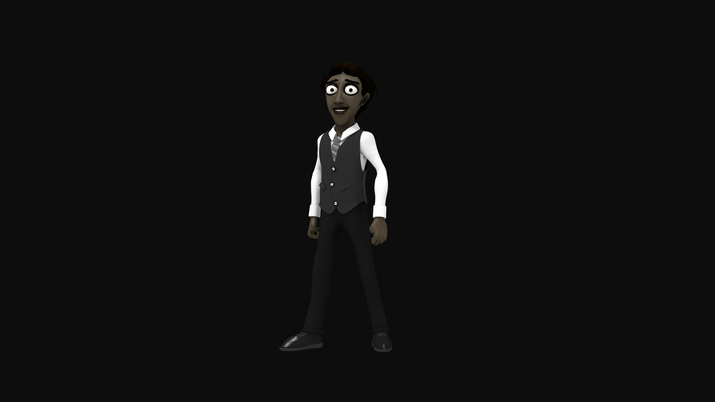 human cartoon character 3D model