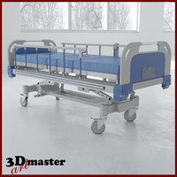 electric medical bed 3D model