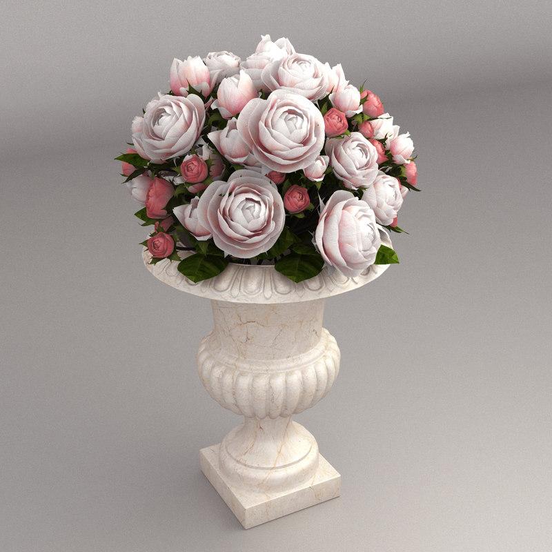 bouquet roses model