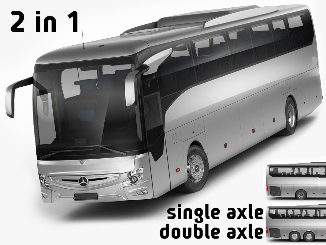 mercedes tourismo 2 2017 3D model