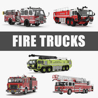 Fire Trucks 3D Models Collection 4