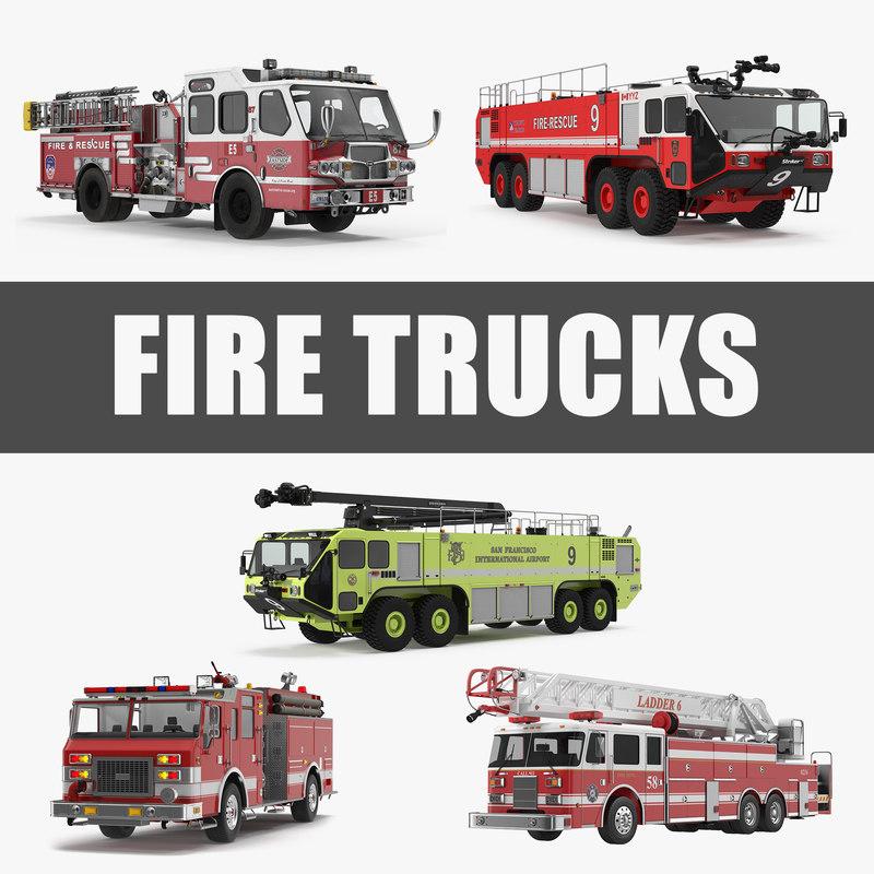 trucks 4 3D model