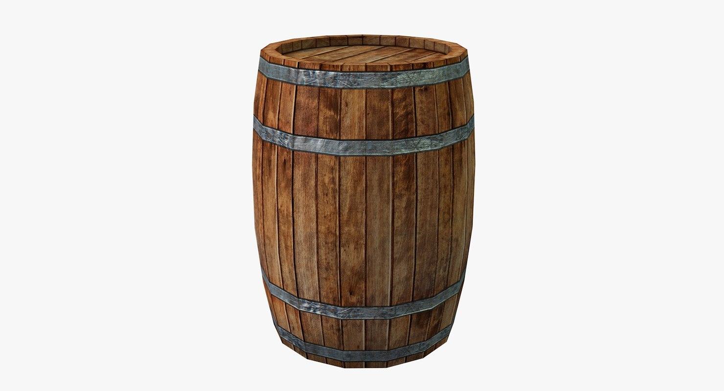 3D realistic barrel model