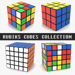 3D rubiks cubes model