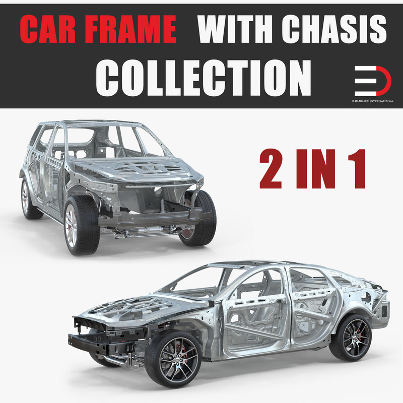 Suv sedan frames chassis car model - TurboSquid 1213436