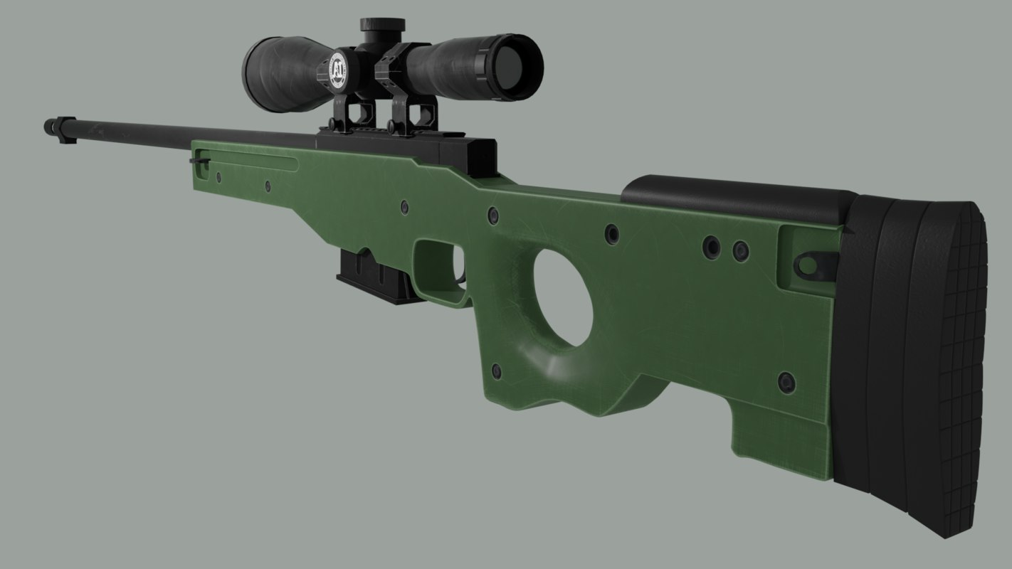 accuracy international awp rifle 3D model
