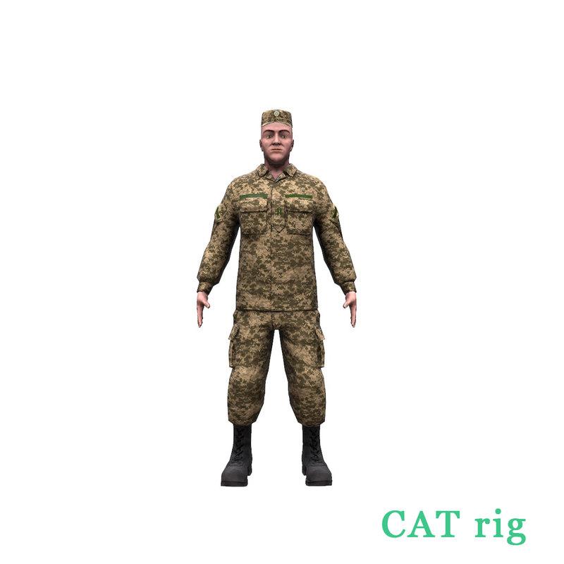 ukrainian soldier 2017 3D model