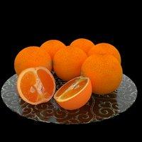 3D oranges cut model