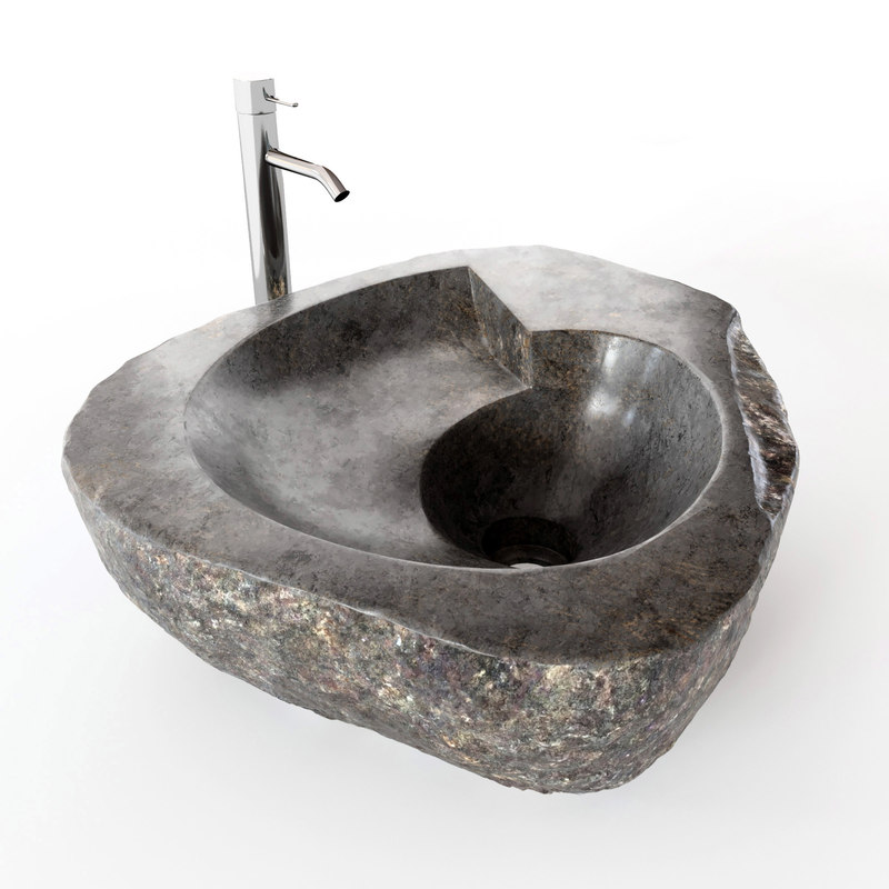natural stone sink 3D