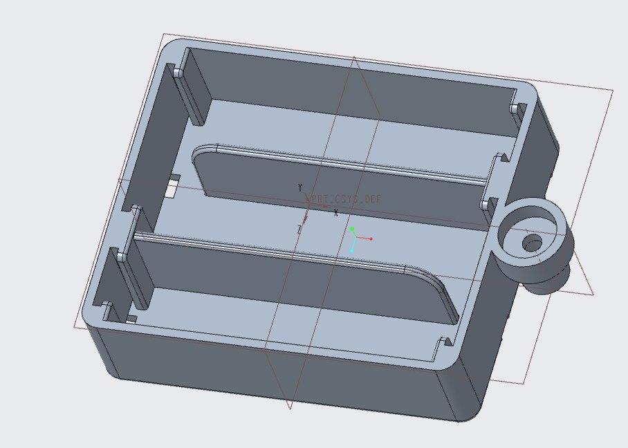 3D 3 aa battery box