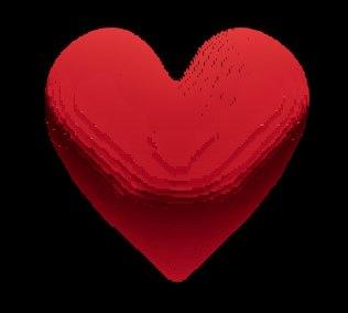 3D pixel heart