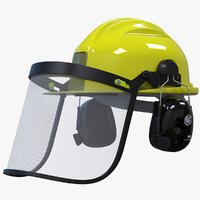 construction helmet visor headphone 3D