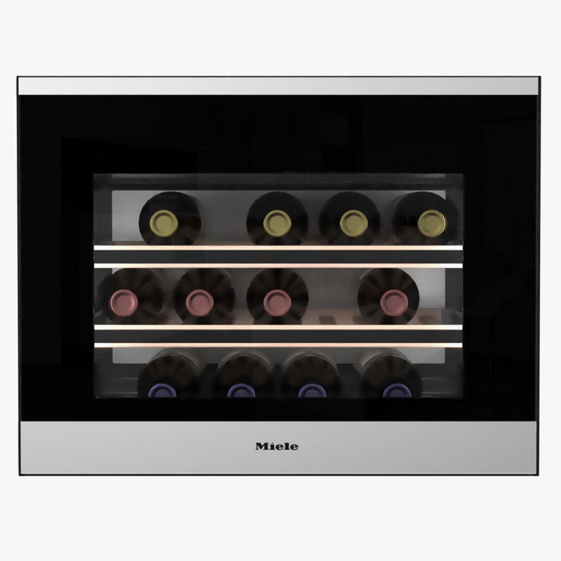 miele built-in wine 3D model