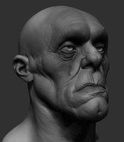 3D creature head ztl