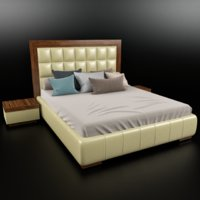 bedroom night bed 3D model