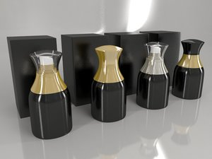 3D bottle box - black model