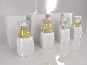 bottle box - white 3D model