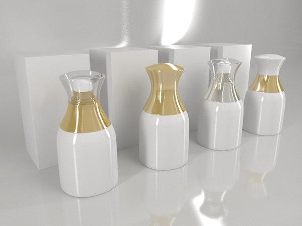 bottle box - white 3D model