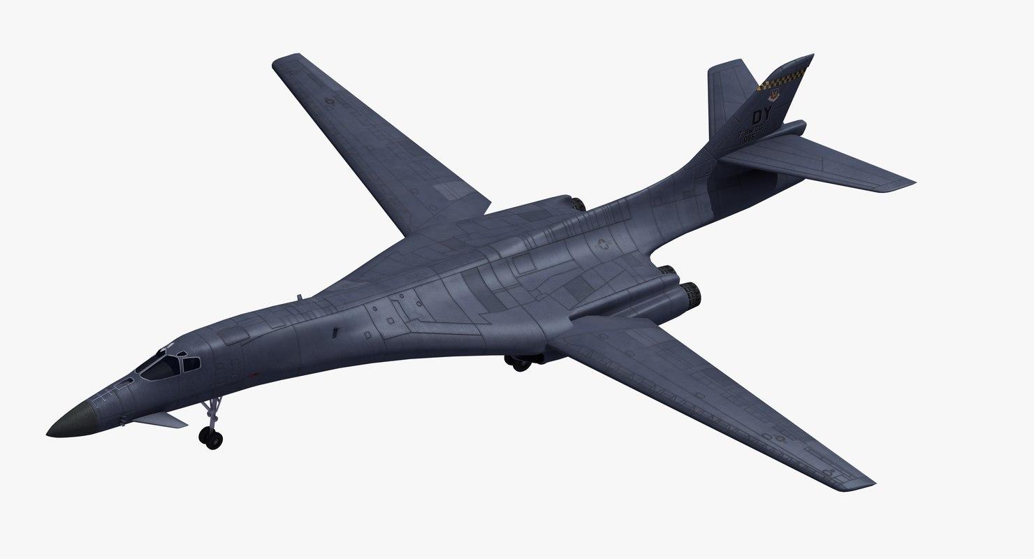 3D model b1b lancer bomber