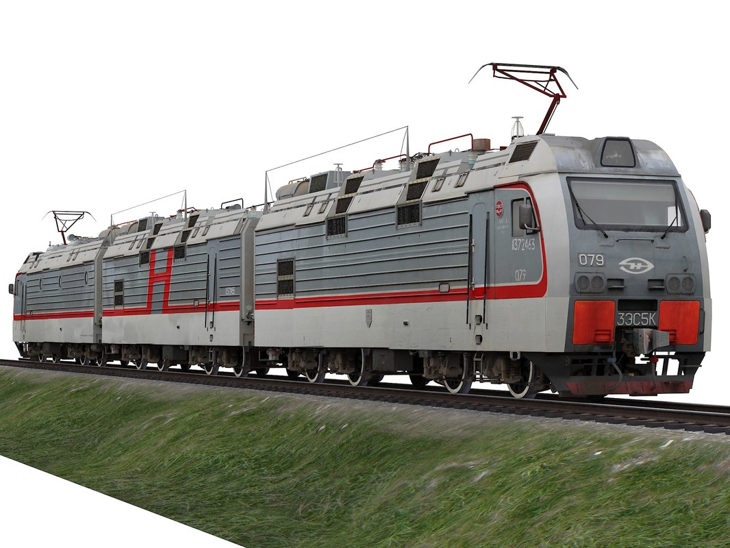 3D russian locomotive 3es5k