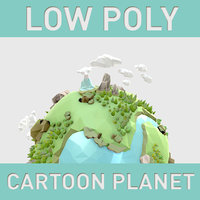 LowPoly cartoon Planet