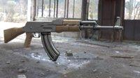 3D model ak-47 gun