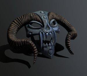 mask horned 3D model