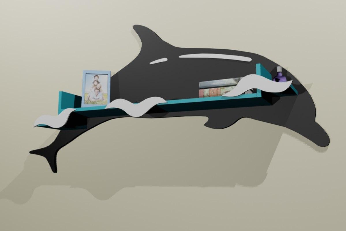3D dolphin shelf model
