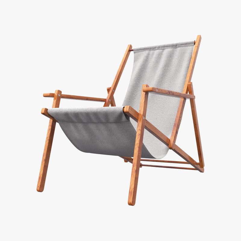 3D chaise-longue