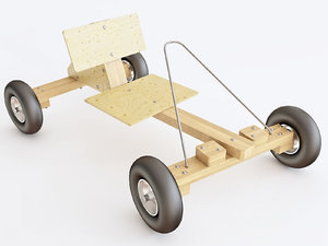 3D car wooden toy