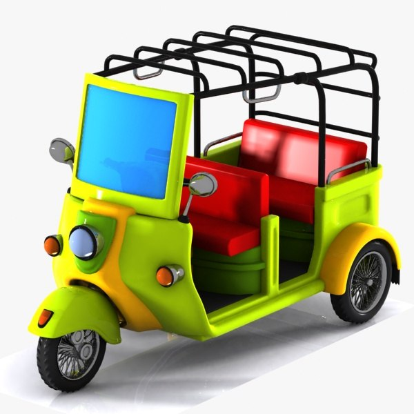 tricycle cycle toon 3D model