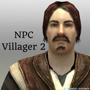 npc villager 2 3D