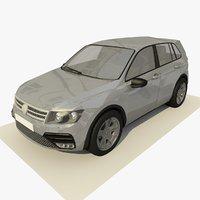 generic hatchback car 3 3D model