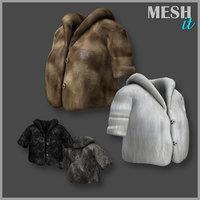 3D short jacket fur model