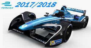 formula e renault dams 3D model