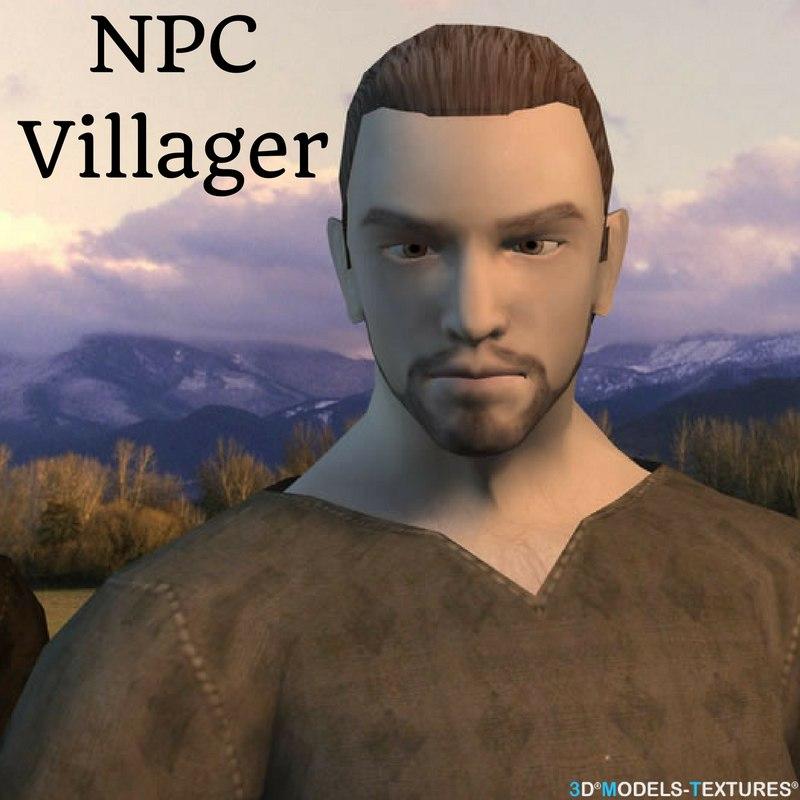 npc characters 3D model