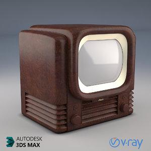 bush tv22 1950 retro 3D model