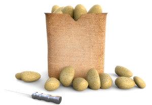 3D potatoes bag