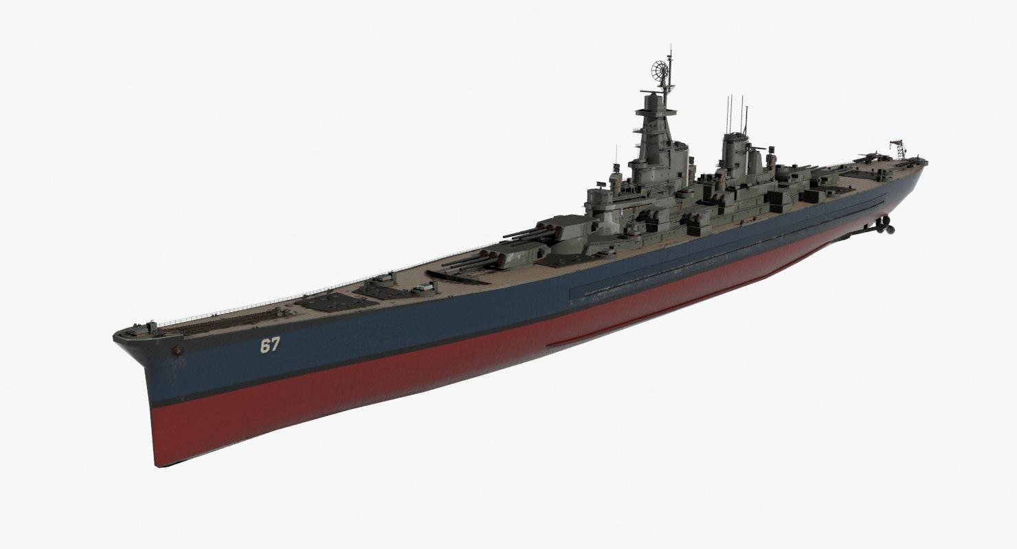 battleship ships 3D model