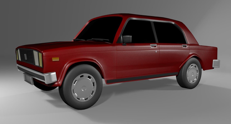 lada car 2107 3D