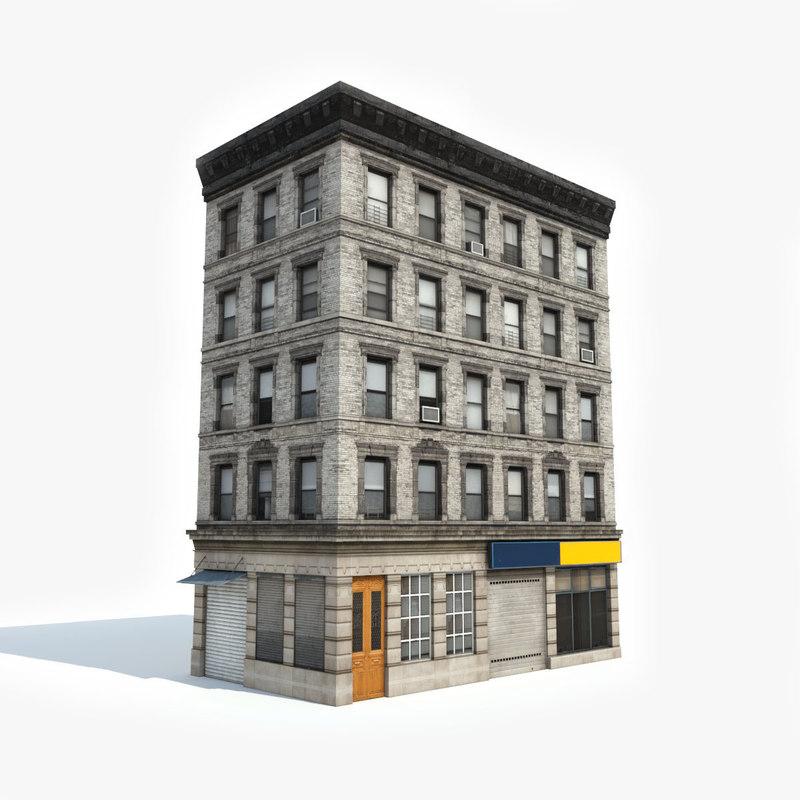 3d Model House Building Residential: Apartment Building 3D Model