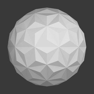 triangles dome 3D model
