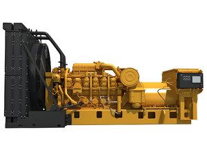 3D drilling power generator engine model