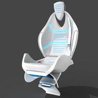 innovative folding seat 3D model