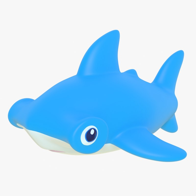 3D model rubber shark 01