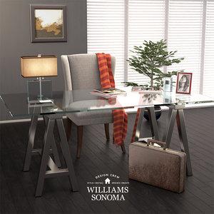 williams-sonoma cabinet 3D model