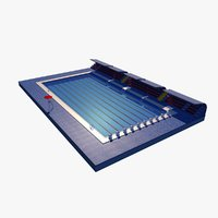3D olympic swimming pool