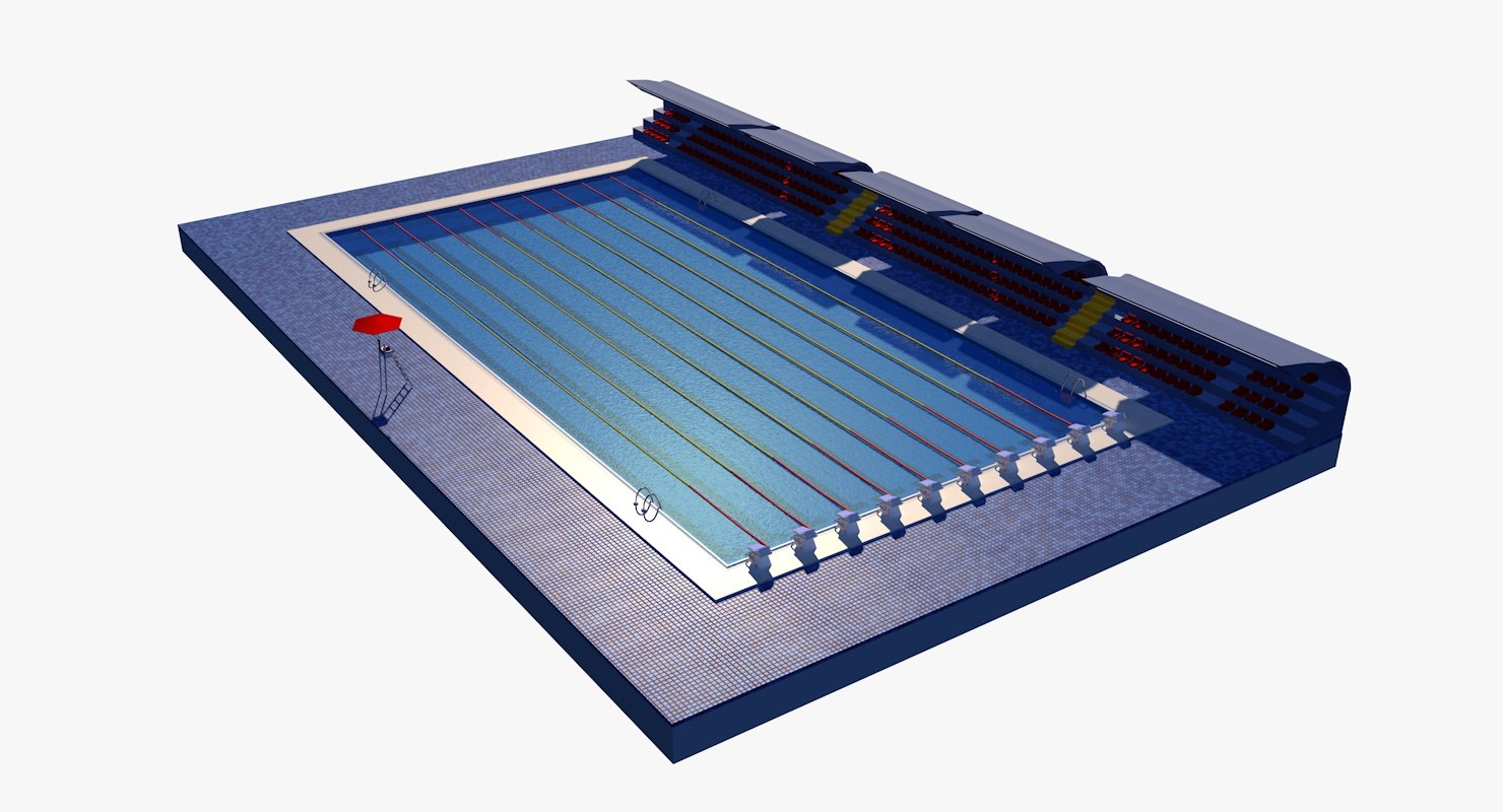 3D olympic swimming pool