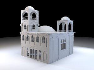 3D old eastern house levels model