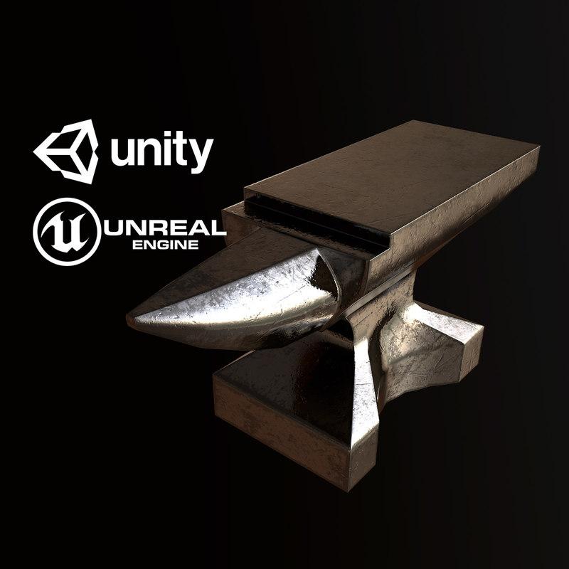 pbr ready anvil model